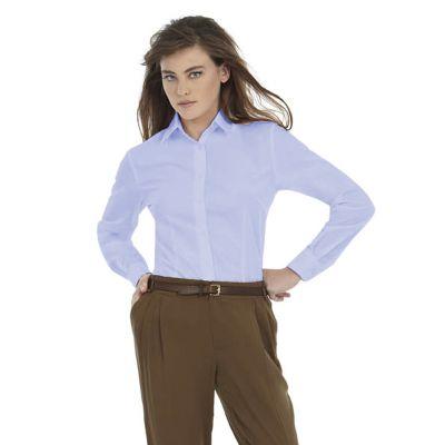 Рубашка женская с длинным рукавом Smart LSL/women, корпоративный голубой