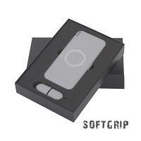 Набор Камень на 2 предмета, 8000 mAh /16Gb, с покрытием soft grip, серый