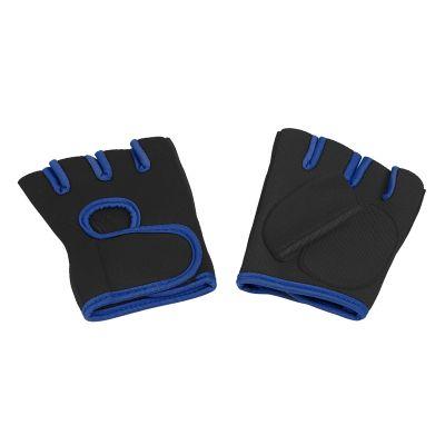 Перчатки для фитнеса Рекорд размер M, черный с синим