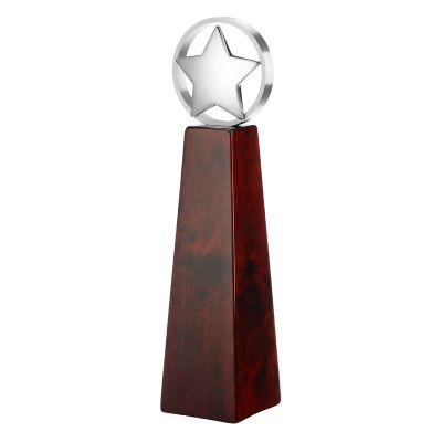 Статуэтка наградная Триумф, красный с серебристым