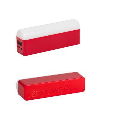 Зарядное устройство с лампой Светлячок, красный с белым