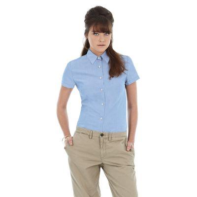 Рубашка женская с коротким рукавом Oxford SSL/women, голубой