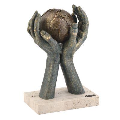 Скульптура Мир в твоих руках, бронзовый
