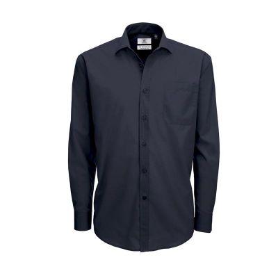 Рубашка мужская с длинным рукавом Smart LSL/men, темно-синий