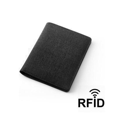 Обложка для паспорта и кредиток с RFID - защитой от считывания данных, черный