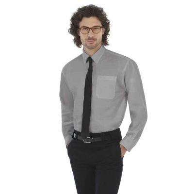 Рубашка мужская с длинным рукавом Oxford LSL/men, серый