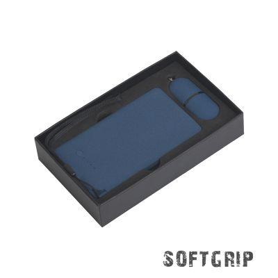 Набор Камень на 2 предмета, 4000 mAh /16Gb, с покрытием soft grip, темно-синий