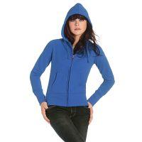 Толстовка женская на молнии Hooded Full Zip/women, ярко-синий