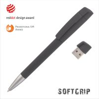 Ручка с флеш-картой USB 16GB «TURNUSsoftgrip M», черный