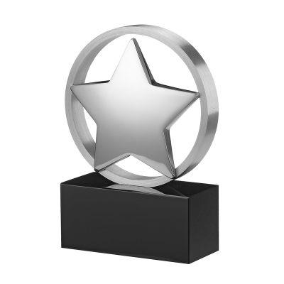 Статуэтка наградная Звезда, серебристый