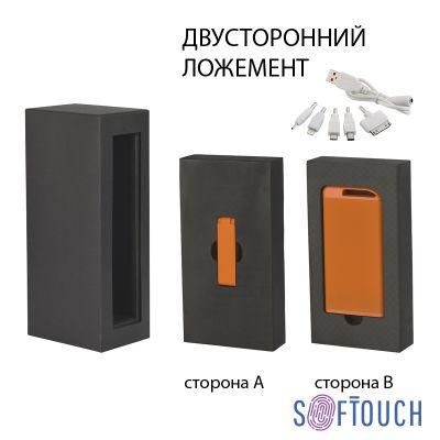 Набор зарядное устройство Theta 4000 mAh + флеш-карта Case 8Гб  в футляре, покрытие soft touch, оранжевый