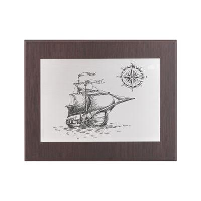 Картина Корабль, серебристый