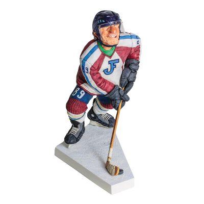 Скульптура Хоккеист, красный с синим