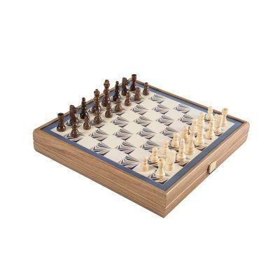 Набор игр (шахматы, нарды, лудо, змейка), коричневый