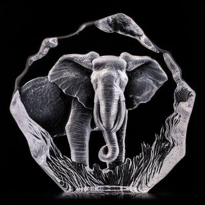 Скульптура Слон, прозрачный