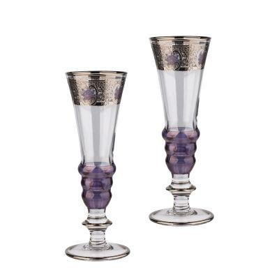 Набор для шампанского Эперне, 2 бокала, фиолетовый