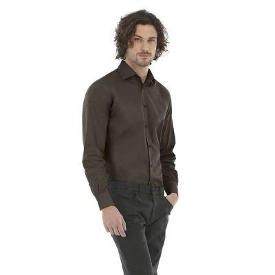 Рубашка мужская с длинным рукавом Black Tie LSL/men, кофейный