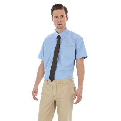 Рубашка мужская с коротким рукавом Oxford SSL/men, голубой