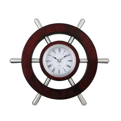 Настенные часы Штурвал, коричневый