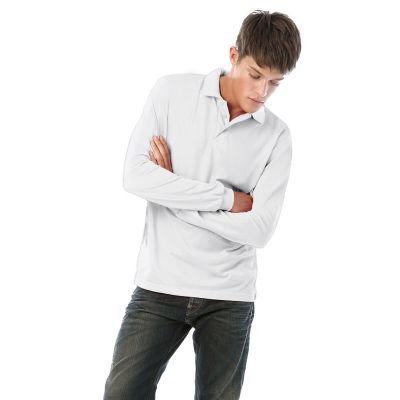 Поло с длинным рукавом Safran LSL, белый