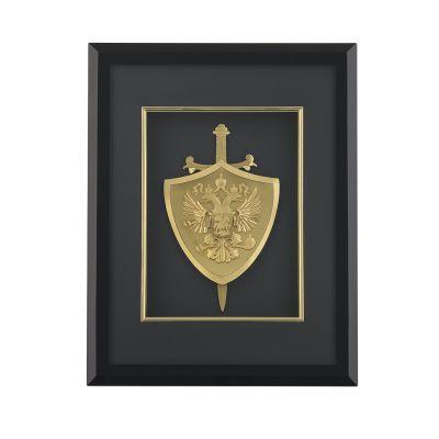 Картина Щит и меч, черный с золотом