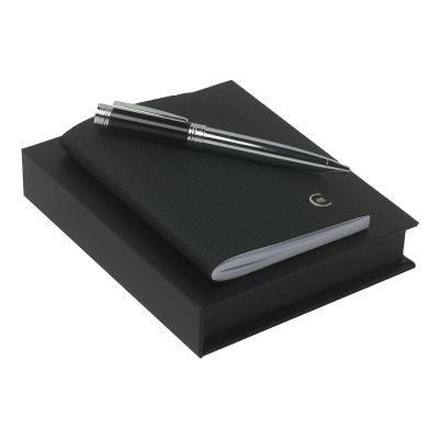 Набор (записная книжка А6, ручка шариковая), черный
