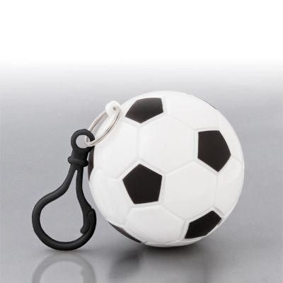 Дождевик Футбол в футляре с карабином, белый с черным