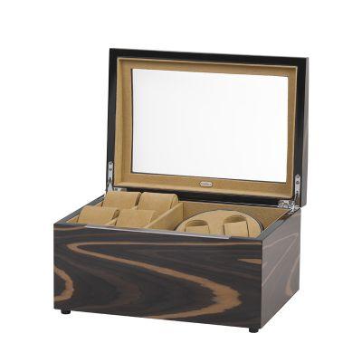 Шкатулка деревянная для часов с подзаводом, коричневый
