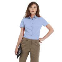 Рубашка женская с коротким рукавом Smart SSL/women, корпоративный голубой