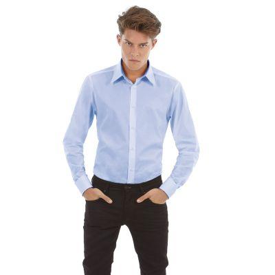 Рубашка с длинным рукавом London, размер XL, корпоративный голубой