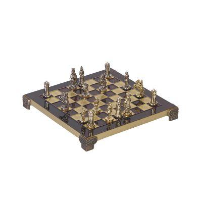 Шахматы Византийская империя, бордовый с золотом