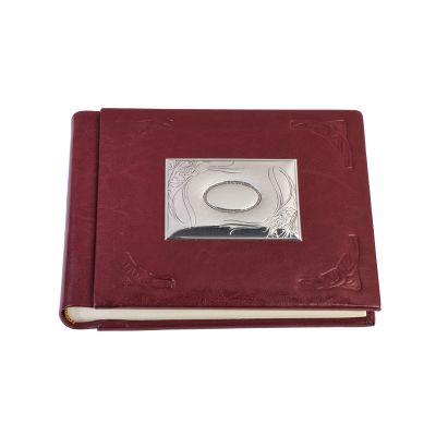 Фотоальбом Модерн 15х21, красный с серебристым