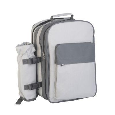Рюкзак для пикника Дания на 4 персоны, серый