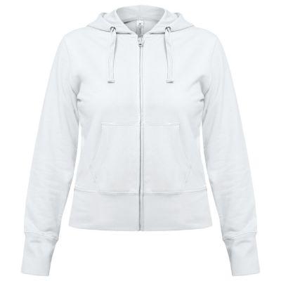 Толстовка женская Hooded Full Zip белая