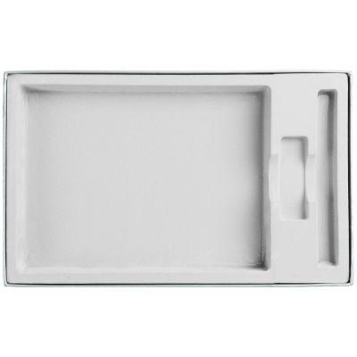 Коробка In Form под ежедневник, флешку, ручку, серебристая