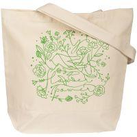 Холщовая сумка Flower Power, неокрашеная