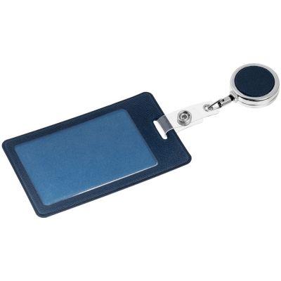 Чехол для пропуска с ретрактором Devon, синий