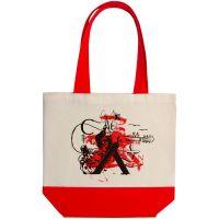 Холщовая сумка Carmen and Сarwoman, красная