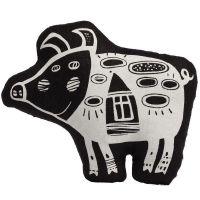 Игрушка «Свинка, витающая в облаках», черная