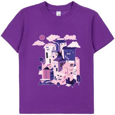 Футболка детская «Йогуртбург», фиолетовая