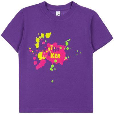 Футболка детская «Пятно Maker», фиолетовая