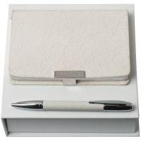 Набор Neve: блокнот А6 и ручка, белый