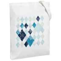 Холщовая сумка «Ромбо. Первый снег», белая
