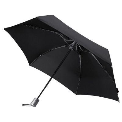Складной зонт Alu Drop, 4 сложения, автомат, черный