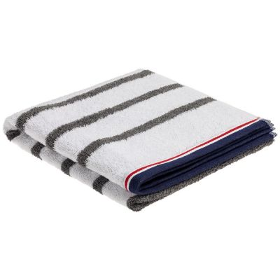 Полотенце Athleisure Strip Large, белое