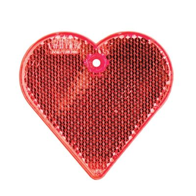 Пешеходный светоотражатель «Сердце», красный