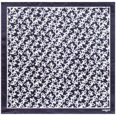 Платок Hirondelle Silk, темно-синий