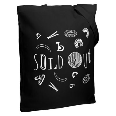 Холщовая сумка Sold Out, черная