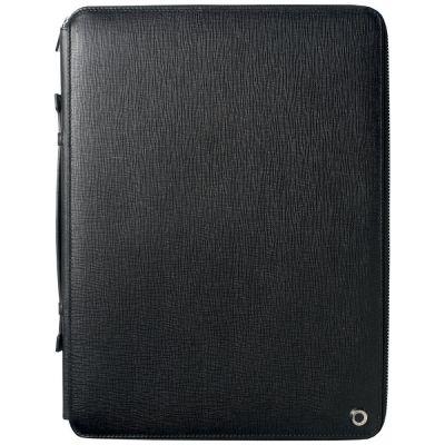 Папка на молнии c блокнотом А4 Tradition, черная