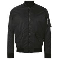 Куртка бомбер унисекс REBEL, черная